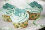 St. Patrick's Day Cupcakes Photographic Print by Tammy Hanratty