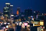 Tokyo Marunouchi and Ginza Night View Photographic Print by vladimir zakharov