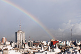 Rainbow High in the City. Photographic Print by Romina llomovatte