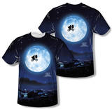 E.T. - Moon (Front/Back Print) T-shirts