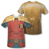 Batman Classic TV - Robin Costume (Front/Back Print) T-Shirt