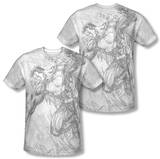 Superman - Pencil City To Space (Front/Back Print) T-shirts