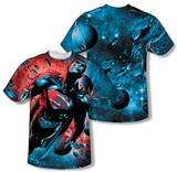 Superman - Red Sun (Front/Back Print) T-shirts