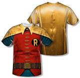 Batman Classic TV - Robin Costume (Front/Back Print) T-shirts