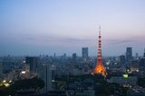 Tokyo Tower at Dusk Photographic Print by Benjamin Torode