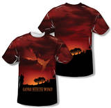 Gone With The Wind - Sunset (Front/Back Print) T-shirts