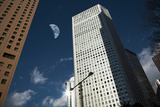 Another Earth above Office Buildings Photographic Print by Hiroshi Watanabe