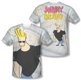 Johnny Bravo - Hanging Out (Front/Back Print) T-Shirt