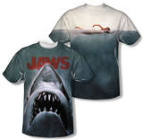 Jaws - Poster (Front/Back Print) T-shirts