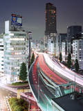 Tokyo, Urban Expressway at Night Photographic Print by Stefan Frid