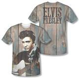 Elvis Presley - Woodgrain (Front/Back Print) Shirts