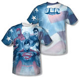 Justice League - United (Front/Back Print) T-shirts