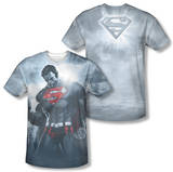 Superman - Light Of The Sun (Front/Back Print) T-shirts