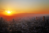 Tokyo Sunset Photographic Print by Hilary McHone