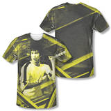 Bruce Lee - Stripes (Front/Back Print) T-shirts