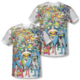 Justice League - Original Universe (Front/Back Print) T-shirts
