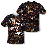 Labyrinth - Right Words (Front/Back Print) Sublimated