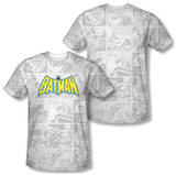 Batman - Vintage Bat Strip (Front/Back Print) T-Shirt