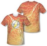 The Flash - Lightning Logo (Front/Back Print) T-shirts