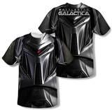 Battlestar Galactica - Cylon Face (Front/Back Print) T-Shirt