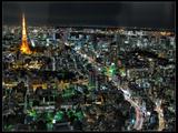 Tokyo Night View Fotografisk tryk af Mikedie