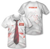 Shawn Of The Dead - Bloody Shirt (Front/Back Print) T-Shirt