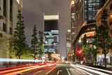 Tokyo Marunouchi Lightstream Photographic Print by Krzysztof Baranowski