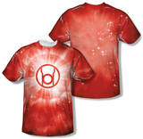 Green Lantern - Red Energy (Front/Back Print) T-shirts