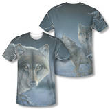 Wild Wings - Midnight Wolves (Front/Back Print) T-shirts