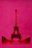 Retro-Styled Eiffel Tower in Pink Photographic Print by Kathy Collins