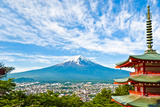 Mount Fuji with a Pagoda in the Foreground Photographic Print by Tom Bonaventure