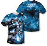 Justice League- Atmospheric (Front/Back Print) T-shirts