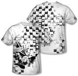 Batman - Checkerboard Kick (Front/Back Print) T-Shirt