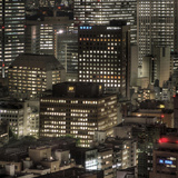 Central Tokyo Cityscape Photographic Print by Chris Jongkind