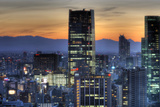 Sunset on Tokyo Midtown Photographic Print by Chris Jongkind