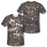 Labyrinth - Right Words (Front/Back Print) T-Shirt