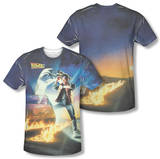 Back to the Future - Movie Poster (Front/Back Print) T-shirts