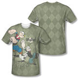 Popeye - Argyle Punch (Front/Back Print) Sublimated