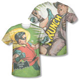 Batman Classic TV - Fighting Back (Front/Back Print) T-Shirt