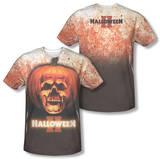 Halloween II - Pumpkin Skull (Front/Back Print) Shirts