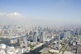 Japan, Tokyo, Kachidoki, Aerial View Photographic Print by  flashfilm