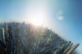 Another Earth above the City Photographic Print by Hiroshi Watanabe