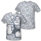 Popeye - Tattooed Sailor (Front/Back Print) Sublimated