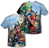 Justice League - Justice League Of America (Front/Back Print) T-Shirt