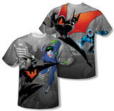 Batman Beyond - Baddie Battle (Front/Back Print) Bluser