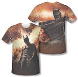 Dark Knight Rises - Fire Poster (Front/Back Print) T-Shirt