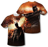 Dark Knight Rises - Fire Poster (Front/Back Print) T-shirts