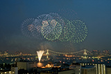 Fireworks in Tokyo Bay Photographic Print by Keiko Iwabuchi