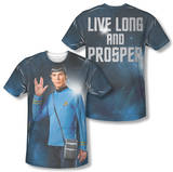 Star Trek - Live Long (Front/Back Print) T-shirts