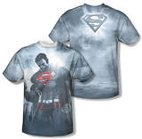 Superman - Light Of The Sun (Front/Back Print) T-Shirt
